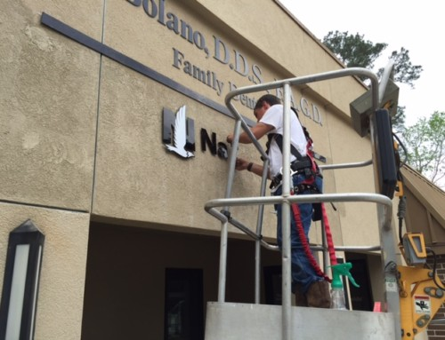 Nationwide Insurance – Sign Install – The Woodlands, Texas
