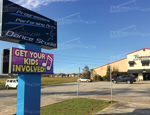 Sign Install for Progressions Performing Arts